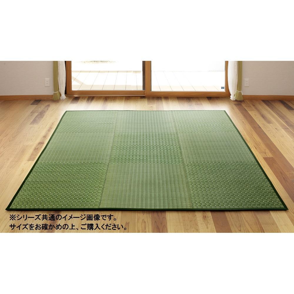 【代引き・同梱不可】茶染紋織 い草ラグ 約200×250cm グリーン TSN340320