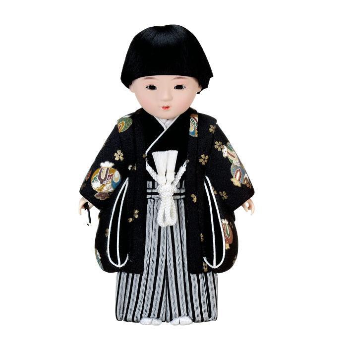 【代引き・同梱不可】01-823 木目込み人形 春日市松(男) セット