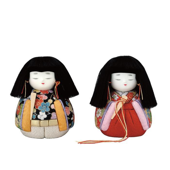 【代引き・同梱不可】01-557 木目込み人形 小豆雛 セット