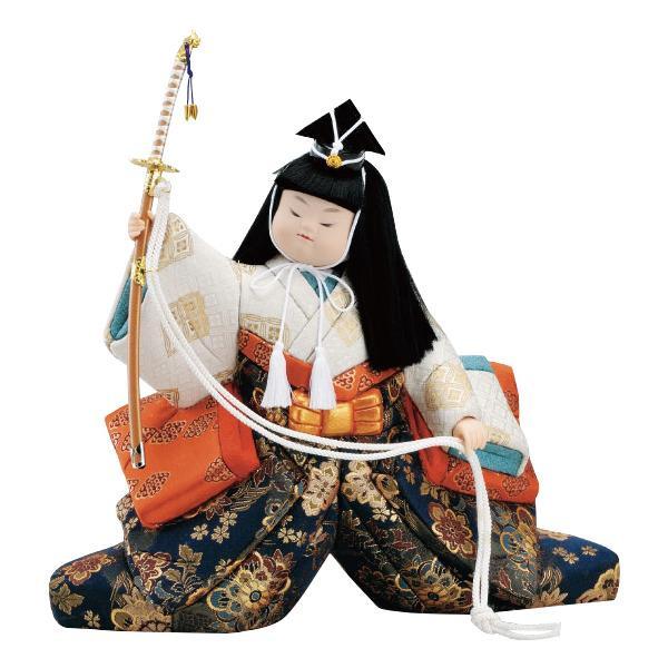 【代引き・同梱不可】01-512 木目込み人形 太刀武者 セット