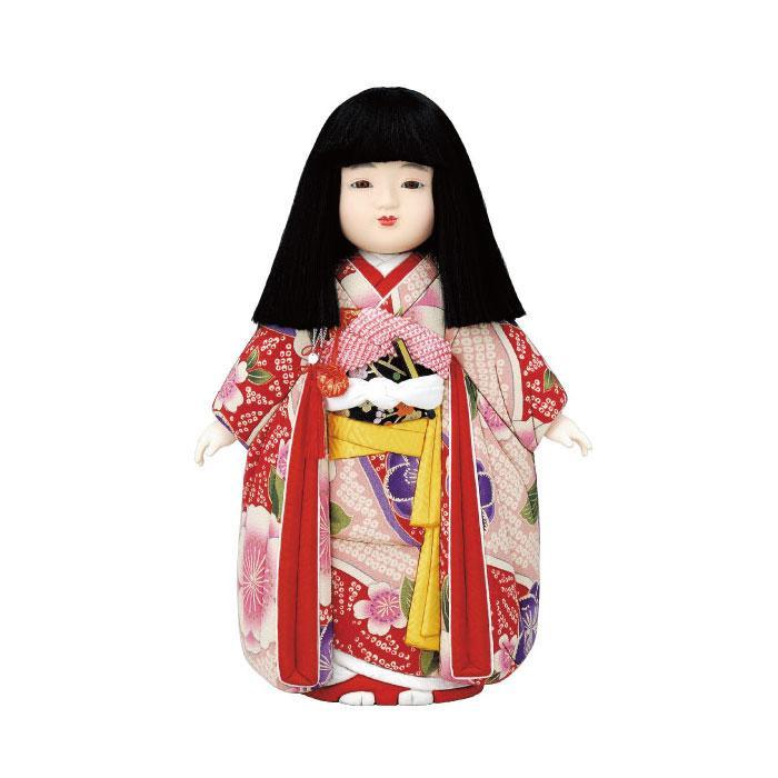 【代引き・同梱不可】01-581 木目込み人形 宝市松(女)(古布調) セット