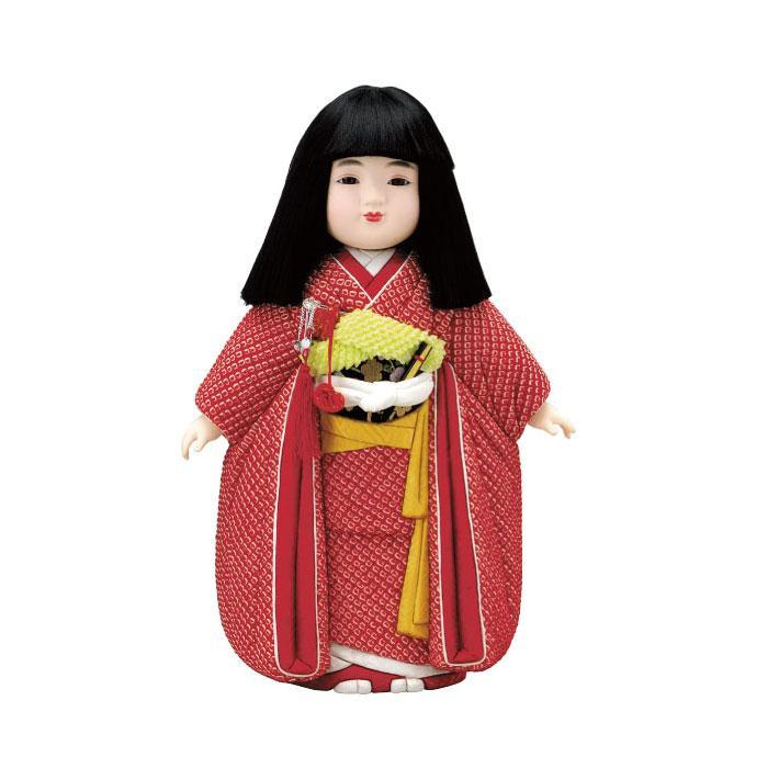 【代引き・同梱不可】01-284 木目込み人形 宝市松(女)(正絹) セット