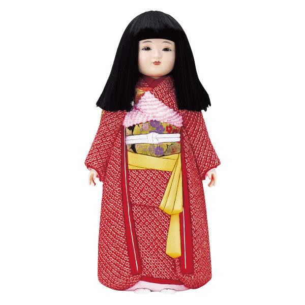 【代引き・同梱不可】01-226 木目込み人形 弥生市松(女)(正絹) セット