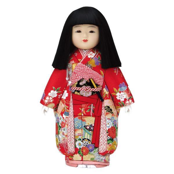 【代引き・同梱不可】01-621 木目込み人形 優美市松(女)(正絹) セット