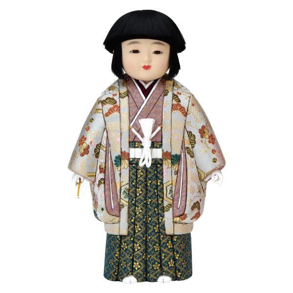 【代引き・同梱不可】01-620 木目込み人形 優美市松(男)(正絹) セット