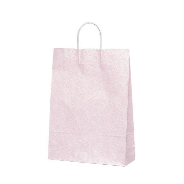 【代引き・同梱不可】T-8 自動紐手提袋 紙袋 紙丸紐タイプ 320×110×430mm 200枚 フロスティ(ピンク) 1843紙手提げ袋 ペーパーバッグ お店