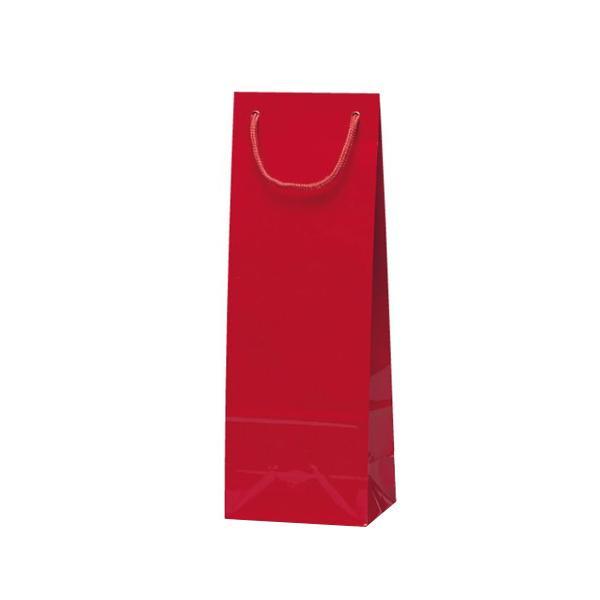 【代引き・同梱不可】スリムバッグ 手提袋 130×90×360mm 100枚 ワイン 5936業務用 お店 紙手提げ袋