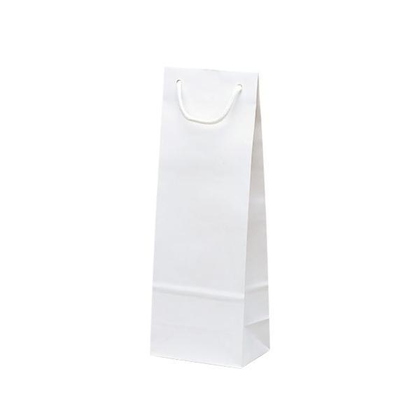 【代引き・同梱不可】スリムバッグ 手提袋 130×90×360mm 100枚 ホワイト 1524お店 無地 ワインバッグ