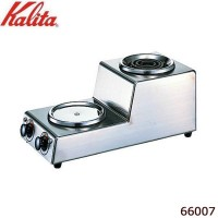 【代引き・同梱不可】Kalita(カリタ) 1.8L デカンタ保温用・湯沸用 2連ハイウォーマー タテ型 66007