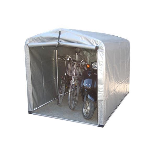 【代引き・同梱不可】簡単組立! アルミフレーム サイクルハウス 高耐久シートタイプ/ワイドタイプ 3S-TSV簡易物置 屋外 雨除け