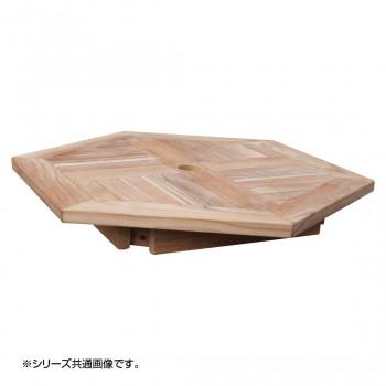 【代引き・同梱不可】コンビネーションテーブル 六角形天板1010 36373