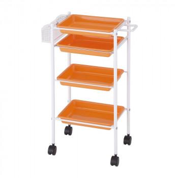 代引き 同梱不可 サロン向け トレーワゴン オレンジ 13529 新作からSALEアイテム等お得な商品 満載 奉呈 C-305