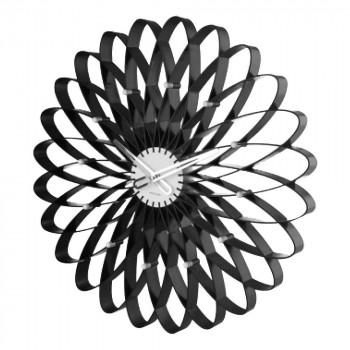 【代引き・同梱不可】present time KARLSSON ウォールクロック Spirograph black KA5245BK 110035