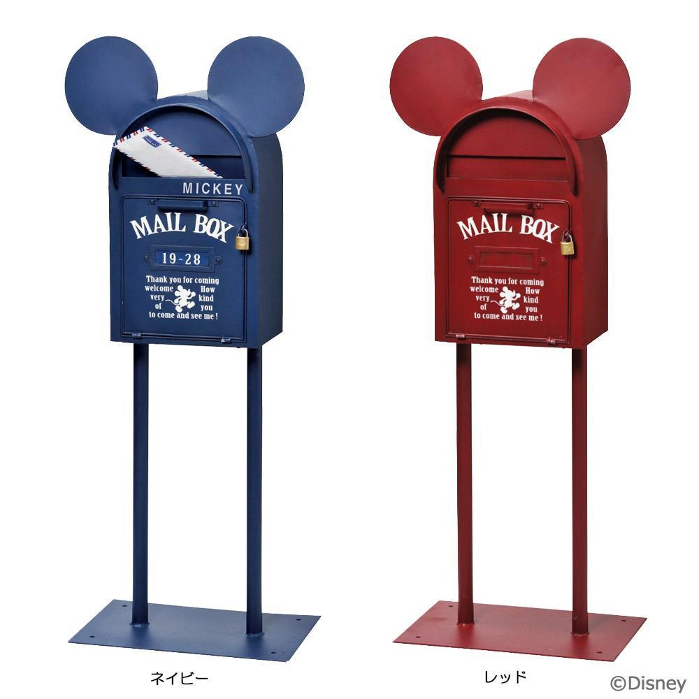 【代引き・同梱不可】セトクラフト スタンドポスト(ヴィンテージミッキー) ネイビー・SD-6141-NV-3800郵便 屋外 玄関