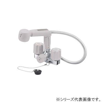 【代引き・同梱不可】三栄 SANEI U-MIX ツーバルブスプレー混合栓(洗髪用) 寒冷地用 K3104KR-LH-13