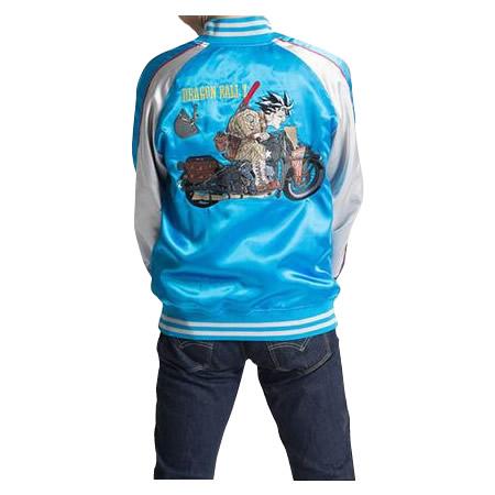 【代引き・同梱不可】ドラゴンボールZ メンズスカジャン バイク柄 B22・ブルー 1113-701