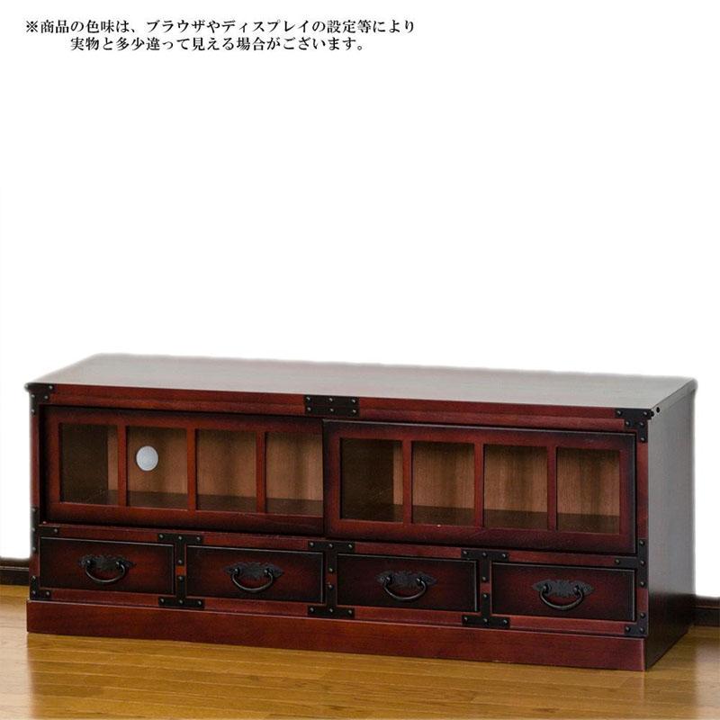 【代引き・同梱不可】民芸調 ローボード 64805