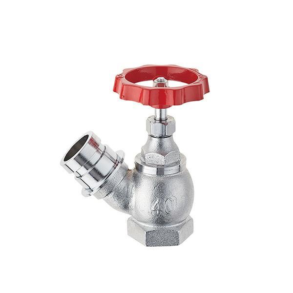 【代引き・同梱不可】三栄水栓 SANEI ガーデニング 差込45度 散水栓 V180-50