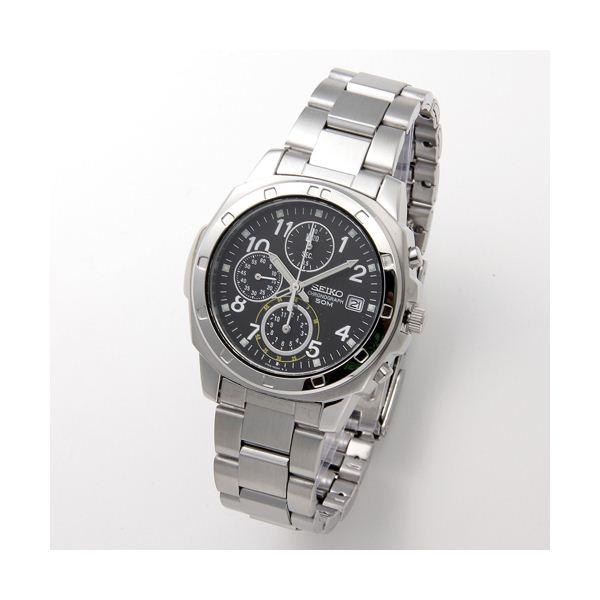 SEIKO(セイコー) 腕時計 クロノグラフ SND195P ブラック/アラビア【日時指定不可】