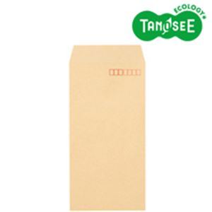 (まとめ)TANOSEE クラフト封筒 テープ付 70g 長3 〒枠あり 1000枚入×3パック【日時指定不可】