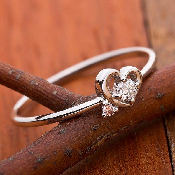 ダイヤモンド リング ダイヤ ピンクダイヤ 合計0 06ct 11 5号 プラチナ Pt950 ハートモチーフ 指輪 ダイヤリンiOPXkZu