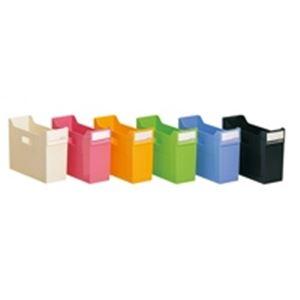 (業務用10セット)LIHITLAB スタックボックス/ファイルボックス 【黄】 リクエスト G1600-5【日時指定不可】