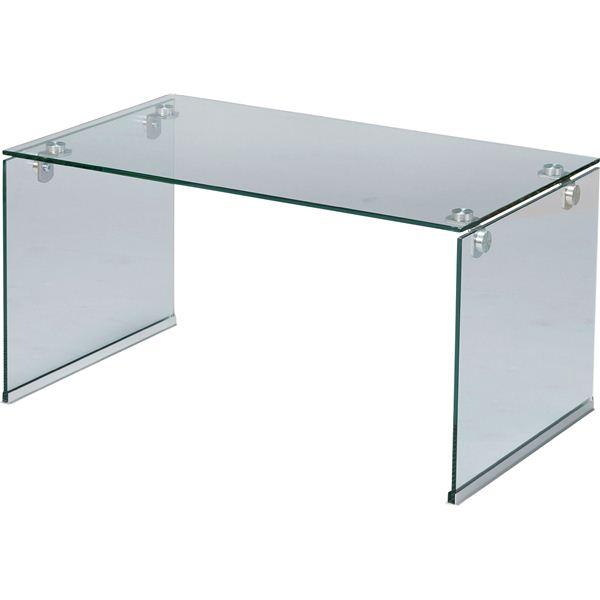 ローテーブル/強化ガラステーブルS 長方形 ガラス天板 (リビング家具) PT-28CL クリア【日時指定不可】