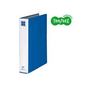 (まとめ)TANOSEE 片開きパイプ式ファイルE A4タテ 30mmとじ 青 30冊【日時指定不可】