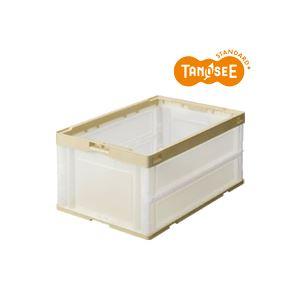 (まとめ)TANOSEE 折りたたみコンテナ 75L 透明 10台【日時指定不可】