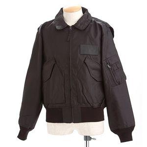 HOUSTON フライトジャケット ブラック S【日時指定不可】