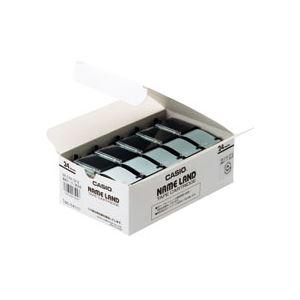 (まとめ) カシオ(CASIO) NAME LAND(ネームランド) スタンダードテープ 24mm 透明(黒文字) 5本入×6パック【日時指定不可】
