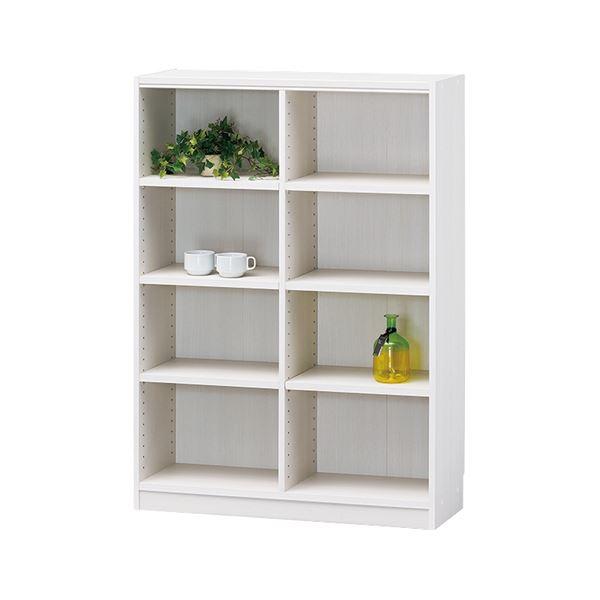 白井産業 木製棚タナリオ TNL-1287 ホワイト【日時指定不可】