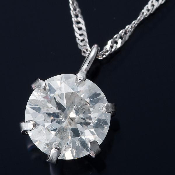 K18WG 0.5ctダイヤモンドペンダント/ネックレス スクリューチェーン【日時指定不可】