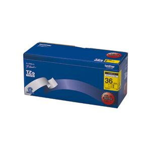 ブラザー BROTHER ピータッチ TZeテープ ラミネートテープ 36mm 黄/黒文字 業務用パック TZE-661V 1パック(5個)【日時指定不可】