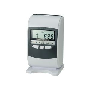 ニッポー 電子タイムレコーダー タイムボーイ8プラス スノーホワイト&グレー 1台【日時指定不可】