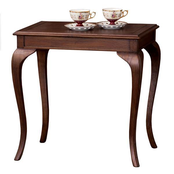 猫足コーヒーテーブル/サイドテーブル 【幅61cm】 木製 『ウェール』 アンティーク調家具 【完成品】【日時指定不可】