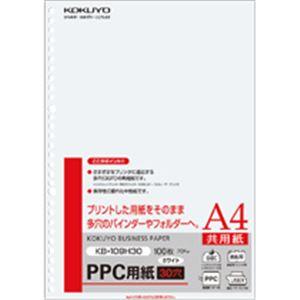 (まとめ)PPC用紙(共用紙)75gA4・30穴100枚入×25冊【日時指定不可】