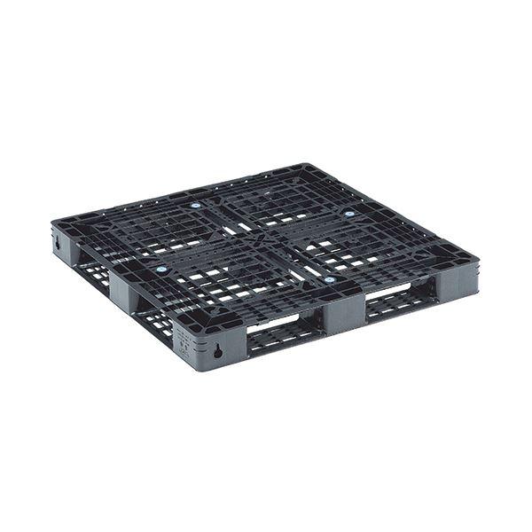 三甲 軽量樹脂パレット D4-1111-11 ブラック【日時指定不可】
