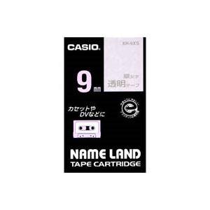 (業務用50セット) カシオ CASIO 透明テープ XR-9XS 透明に銀文字 9mm【日時指定不可】