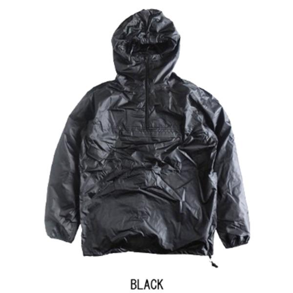 フランスタイプアノラック・パッカブル・リップストップ・レインパーカー ブラック 96(L相当)【日時指定不可】