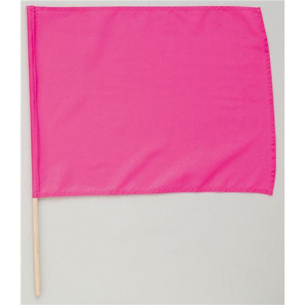 (まとめ)アーテック 旗/フラッグ 【小】 410×300mm ポリエステル・綿製 蛍光ピンク 【×40セット】【日時指定不可】