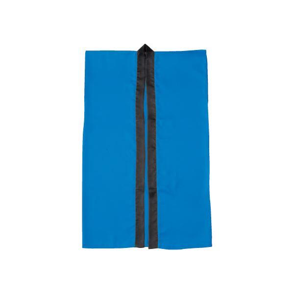 (まとめ)アーテック サテン製はっぴ/法被 【Lサイズ】 ロング丈 袖なし ハチマキ付き ブルー(青) 【×40セット】【日時指定不可】