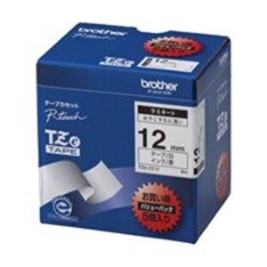 (業務用5セット) brother ブラザー工業 文字テープ/ラベルプリンター用テープ 【幅:12mm】 5個入り TZe-231V 白に黒文字 【日時指定不可】