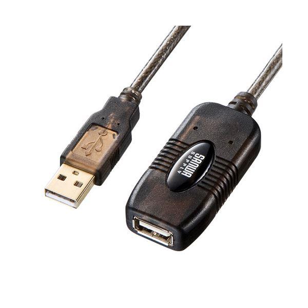 サンワサプライ 30m延長USBアクティブリピーターケーブル KB-USB-R230【日時指定不可】