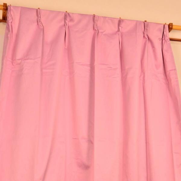 シンプル遮光カーテン/目隠し 【2枚組 100×188cm/ピンク】 洗える 『フィリー』【日時指定不可】