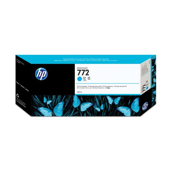 (まとめ) HP772 インクカートリッジ シアン 300ml 顔料系 CN636A 1個 【×3セット】【日時指定不可】