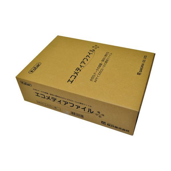 (まとめ) 桜井 エコメディアファイル A4 6穴 グレー EMFA4G 1パック(5冊) 【×4セット】【日時指定不可】