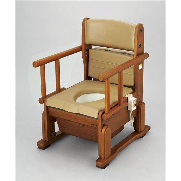 ウチヱ 木製ポータブルトイレ さわやかCH(ホット・自在) 8242【日時指定不可】