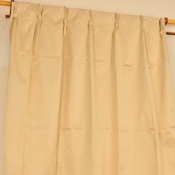 シンプル遮光カーテン/目隠し 【2枚組 100×200cm/アイボリー】 洗える 『フィリー』【日時指定不可】