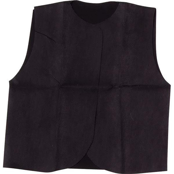 (まとめ)アーテック 衣装ベース 【S ベスト】 不織布 ブラック(黒) 【×30セット】【日時指定不可】